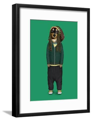 Reggae (Pets Rock)-Takkoda-Framed Art Print