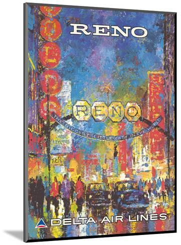 Reno, Nevada - The Biggest Little City in the World - Delta Air Lines-William (Jack) Laycox-Mounted Art Print