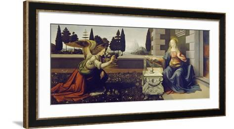 The Annunciation, ca. 1472-Leonardo Da Vinci-Framed Art Print