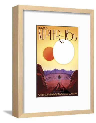 Kepler-16b-Vintage Reproduction-Framed Art Print