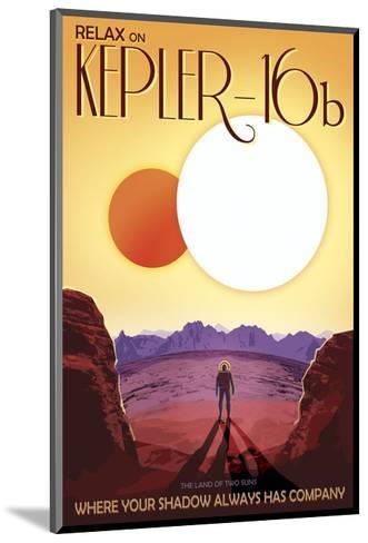 Kepler-16b-Vintage Reproduction-Mounted Art Print