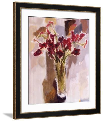 Red Calla Lilies--Framed Art Print
