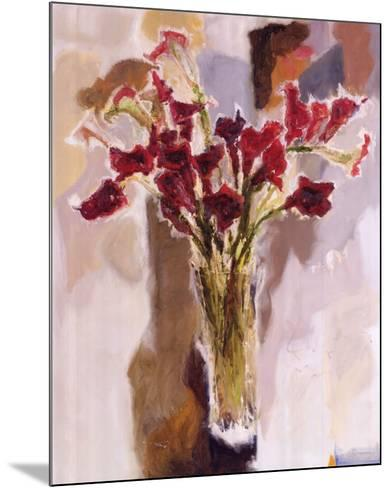 Red Calla Lilies--Mounted Art Print