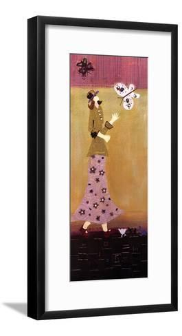 Woman With Butterflies II-Genevieve Pfeiffer-Framed Art Print