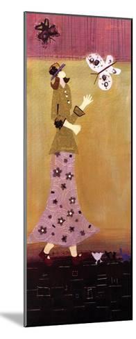 Woman With Butterflies II-Genevieve Pfeiffer-Mounted Art Print