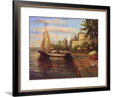 Santo Domingo Harbor--Framed Art Print