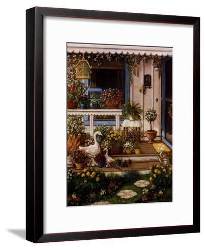 Spring Front Porch-Janet Kruskamp-Framed Art Print
