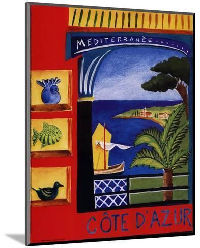 Cote D'Azur-Katharine Gracey-Mounted Art Print