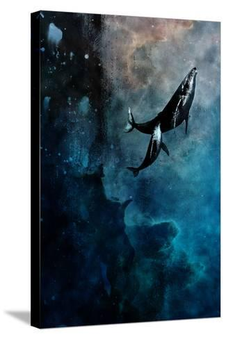 Flying Whales-Alex Cherry-Stretched Canvas Print