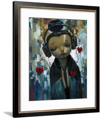 She Had Her Sources-Aaron Jasinski-Framed Art Print