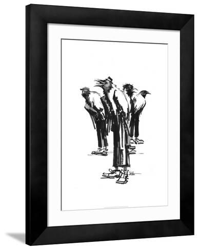 Band of crows-Lora Zombie-Framed Art Print