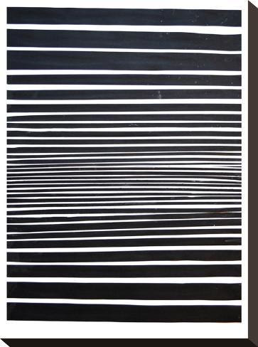 Black & White Stripes-Cara Francis-Stretched Canvas Print