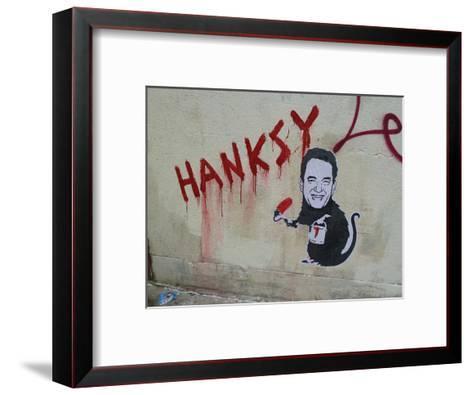 Hanksy-Banksy-Framed Art Print