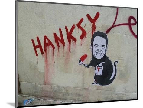 Hanksy-Banksy-Mounted Art Print