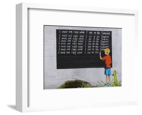 Simpsons-Banksy-Framed Art Print