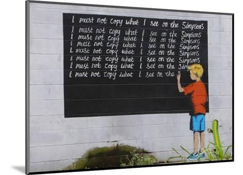 Simpsons-Banksy-Mounted Art Print