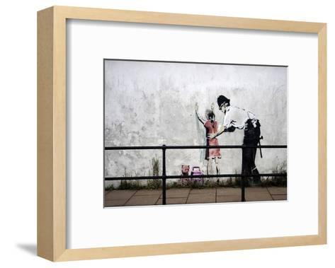 Stop and search-Banksy-Framed Art Print