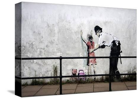 Stop and search-Banksy-Stretched Canvas Print
