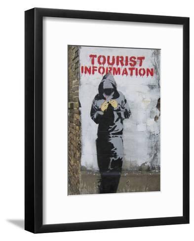Tourist Information-Banksy-Framed Art Print