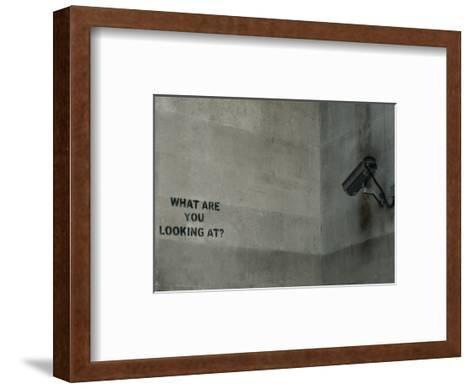 What Are You Looking At-Banksy-Framed Art Print