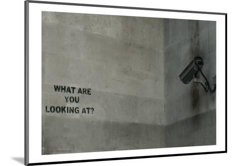 What Are You Looking At-Banksy-Mounted Giclee Print