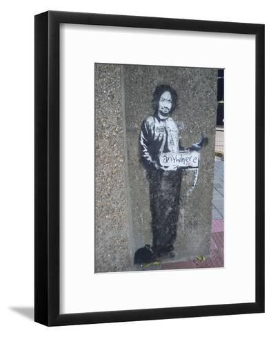 Box-Banksy-Framed Art Print
