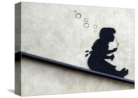 Bubble Girl-Banksy-Stretched Canvas Print