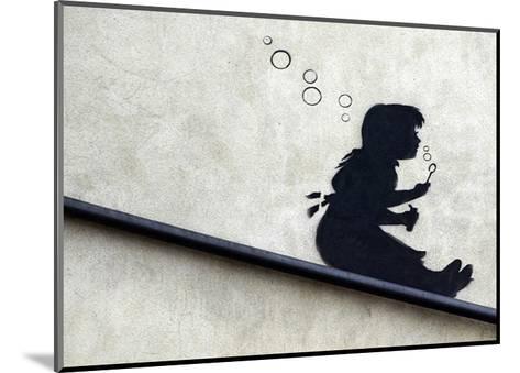 Bubble Girl-Banksy-Mounted Art Print