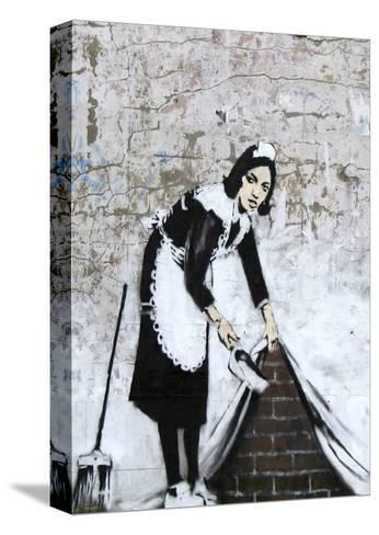 Chamber Maid-Banksy-Stretched Canvas Print