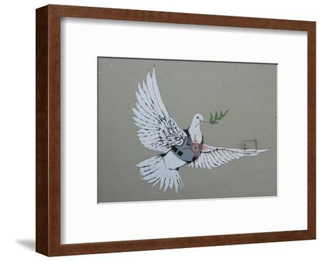 Dove-Banksy-Framed Art Print