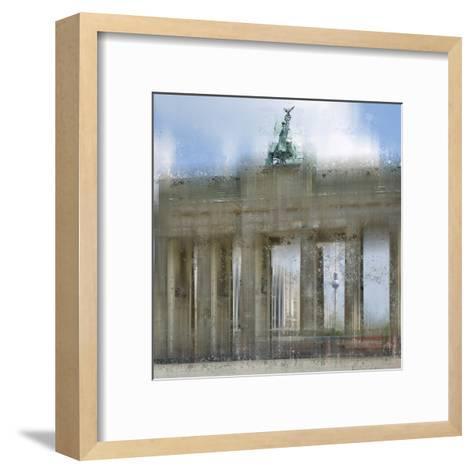 City Art Berlin Brandenburg Gate-Melanie Viola-Framed Art Print