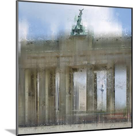 City Art Berlin Brandenburg Gate-Melanie Viola-Mounted Art Print