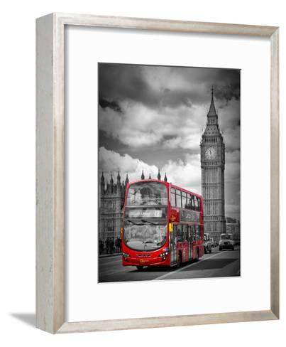 London Westminster Bridge Traffic-Melanie Viola-Framed Art Print