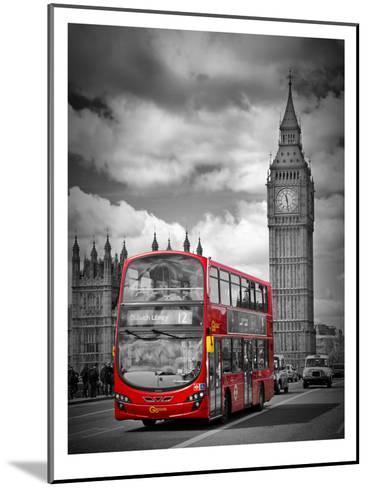 London Westminster Bridge Traffic-Melanie Viola-Mounted Art Print
