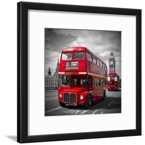 London Red Busses-Melanie Viola-Framed Art Print