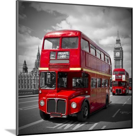 London Red Busses-Melanie Viola-Mounted Art Print