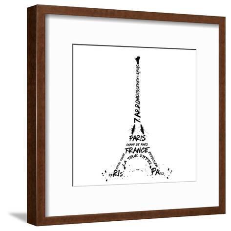 Digital Art Eiffel Tower-Melanie Viola-Framed Art Print