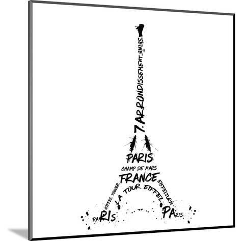 Digital Art Eiffel Tower-Melanie Viola-Mounted Art Print