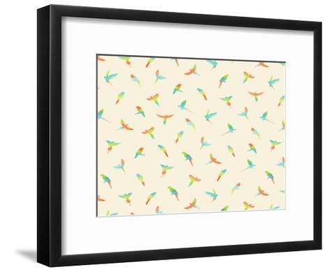 Papagei-Florent Bodart-Framed Art Print