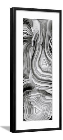Agate Panel Grey III-Danielle Carson-Framed Art Print