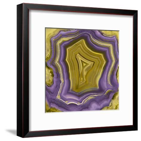 Agate in Purple & Gold I-Danielle Carson-Framed Art Print