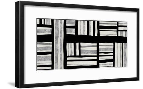 Intersect - Silver-Ellie Roberts-Framed Art Print