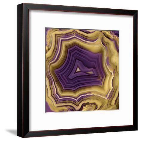Agate in Purple & Gold II-Danielle Carson-Framed Art Print