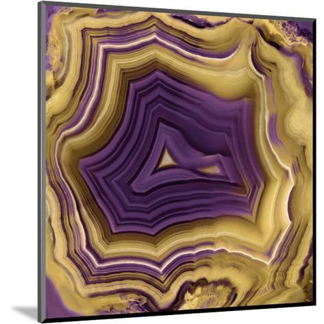 Agate in Purple & Gold II-Danielle Carson-Mounted Giclee Print