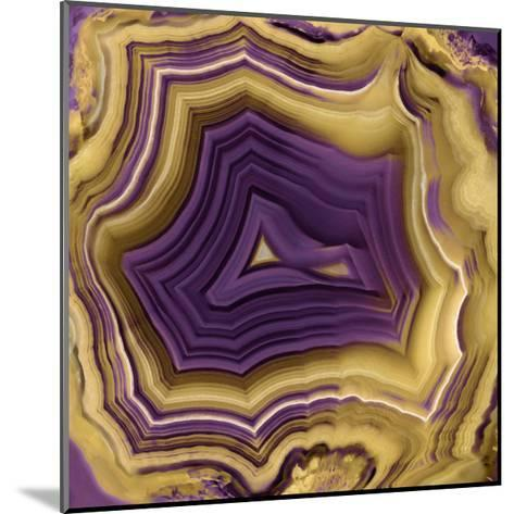 Agate in Purple & Gold II-Danielle Carson-Mounted Giclee Print