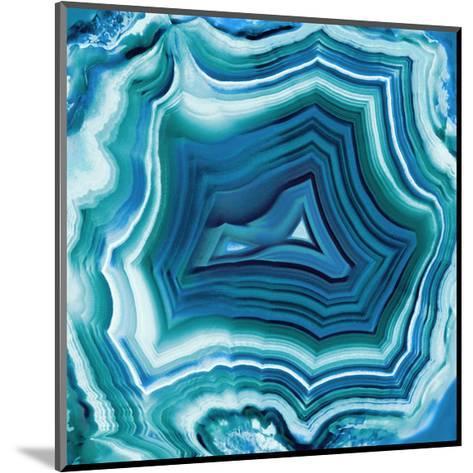 Agate in Aqua-Danielle Carson-Mounted Giclee Print