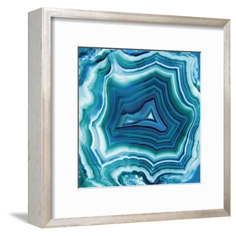 Agate in Aqua-Danielle Carson-Framed Art Print