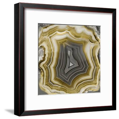 Agate in Gold & Grey-Danielle Carson-Framed Art Print