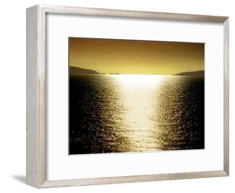 Sunlight Reflection - Golden-Maggie Olsen-Framed Art Print