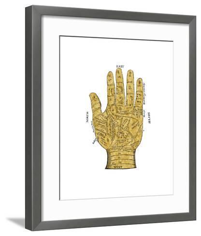Vintage Palmistry-Oliver Jeffries-Framed Art Print